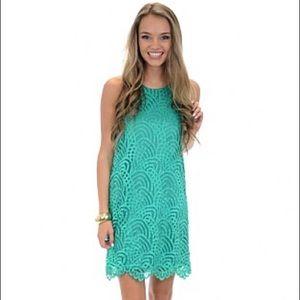 NWT green Ariel lace dress